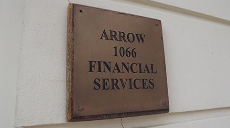 Arrow 1066 Financial Services Plaque